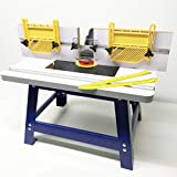 """Deluxe 1/4"""" and 1/2"""" Bench Top Router Table with 2X Feather Boards"""