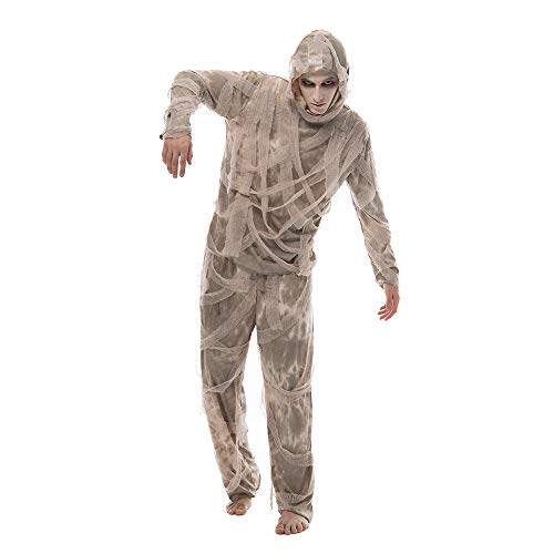EraSpooky Disfraz de Momia para Hombre Vendas egipcias de Halloween Disfraz de Miedo