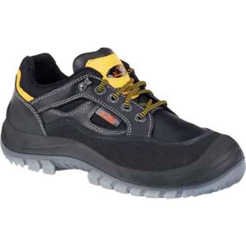 Sicherheitsschuhe m.Überkappe, Vollrindleder, schw, Schuhgröße : 38, Farbe : schwarz