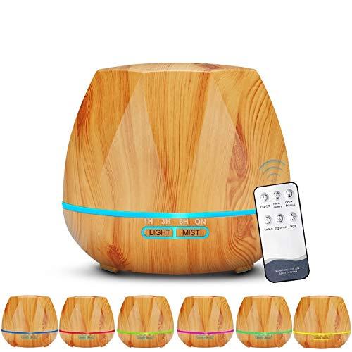 Ayrio Ar/ôme Diffuseur Huiles Essentielles /Électrique Ultrasonique 130ml Humidificateur d/' Air Maison avec LED en 6 couleurs Purificateur pour Chambre Yoga SPA