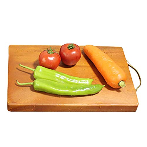 HQQSC La Tabla de Cortar de Cocina Reversible for mamá y papá - Tarjeta de Madera de troceo for tallar Carne, Verduras, Frutas y Queso Paleta de Corte