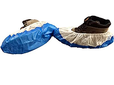 Disposable Shoe Covers - Non Skid Polypropylene - Size Large Medical Shoe and Boot Covers for Home or Work (100 Per Pack) 50 Pair
