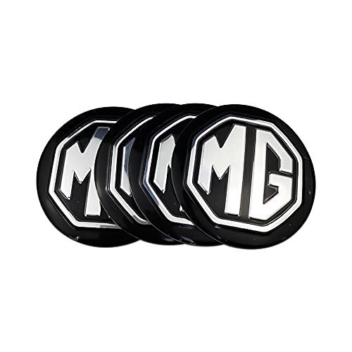 tieoqioan Emblema de Coche, calcomanía de Tapas de Cubo de llanta Central para MG, Logotipo para MG TF ZR ZS ES HS EZS Morris 3 GS 4 Uds.