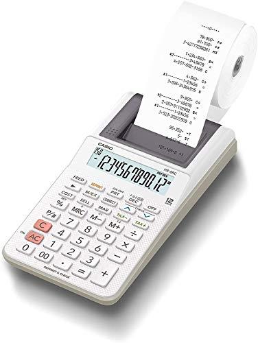 カシオ プリンター電卓 ハンディタイプ 12桁 HR-8RC-WE