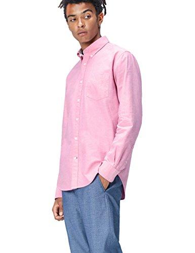Amazon-Marke: find. Regular Oxford Hemd, Violett (Fuchsia), XL, Label: XL
