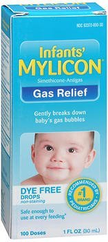 Mylicon Infants' Gas Relief Dye Free Drops - 1 oz, Pack of 2