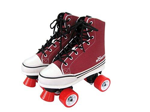 Monster Chaussures de basket Quad Skates pour enfant Taille 3 S (1539)