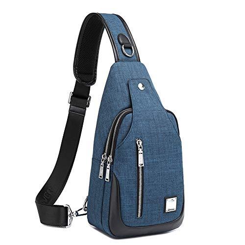 weiatas Sling Bag for Men Women, Crossbody Shoulder Backpack Daypack Chest Sling Backpack,One Strap Backpack with Adjustable Strap for Hiking Walking Biking Cycling Hiking Travel