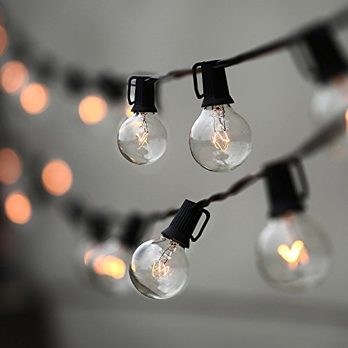 String Lights, Lampat 25Ft G40 Globe String Lights with Bulbs-UL Listd...