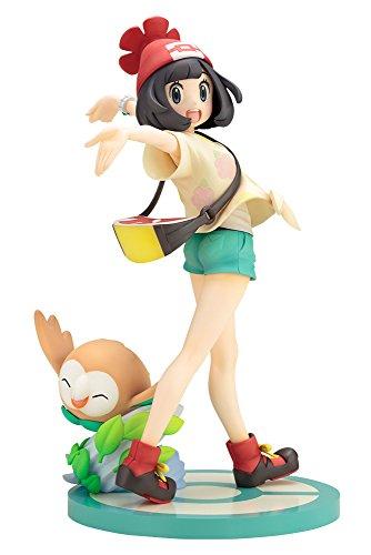 Kotobukiya ARTFX Pokemon Series Moon (Mizuki) with Rowlet Brindibou Bauz (Mokuro) 1/8 Scale PVC Figure