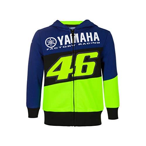 Valentino Rossi Sweatshirt Yamaha Dual Jacke, Königsblau, 7/8