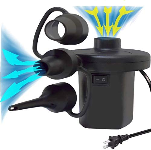 BIBIELF Electric Air Pump for Inflatables with 3 Nozzles Portable Inflator Deflator Pumps for product image