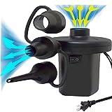 BIBIBIELF Bomba de aire eléctrica para inflables con 3 boquillas, inflador portátil / bomba de desinflador para colchón de aire, camas de aire, piscina de remo y anillo de natación
