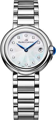 Maurice Lacroix Fiaba Round FA1003-SS002-170 Reloj de Pulsera para mujeres con diamantes genuinos