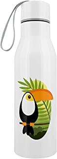 Tropical Toucan Stainless Steel Water Bottle White 6.5x23.5cm