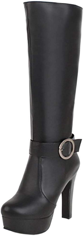 Unm Women's Fashion High Heel Long Boots Zip