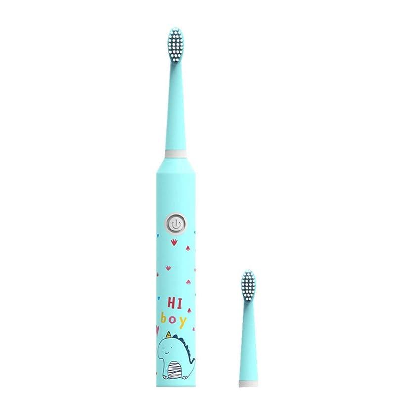 反発する神秘ベット子供の電動歯、Bのための3つのモード子供の音波の電動歯ブラシの漫画パターン