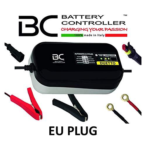 BC DUETTO - 12V 1,5A - Cargador y Mantenedor de Carga Automático para Baterías de Plomo-Ácido y de Litio LiFePO4