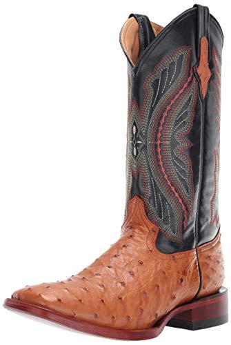 Ferrini Men's Full Quill Ostrich Western Boot Cognac 11 D US