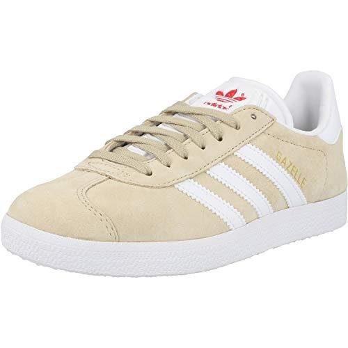 Adidas Gazelle W, Zapatillas de Deporte Mujer, Lino (Savannah/FTWR White/Glory Red), 40 EU