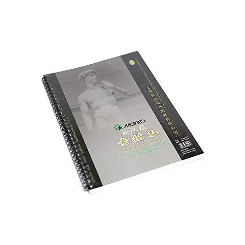SUQ Cuadernos de Dibujo, Blocs en Espiral de Doble Anilla, Bloc de Dibujo en Espiral, Cuaderno de dibujo para artistas, A4 160 GSM 35 Hojas, Ideal para Estudios, Escuelas o Casa