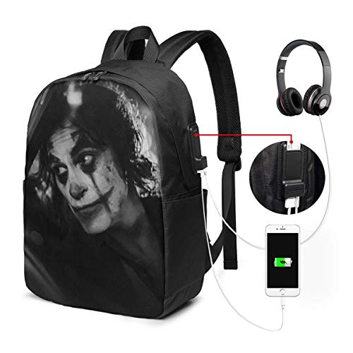 UxaliO Joker Trendy Travel USB Backpack,17 Inch Computer Business Backpacks Student Backpack Casual Hiking Daypack