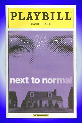 Next To Normal, Broadway playbill + Alice Ripley, J. Robert Spencer, Jennifer Damiano, Kyle Dean Massey, Louis Hobson
