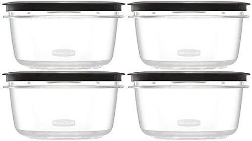 Today's only Max 85% OFF Rubbermaid Premier Food Storage Container Grey Pack Cup 4 5