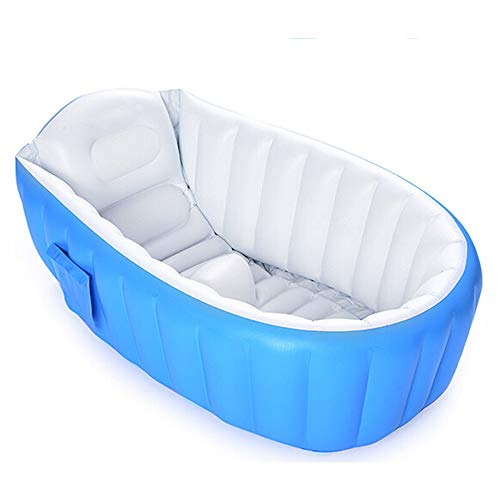 CCHM Aufblasbare Badewanne OEM Faltbare Babywanne Mini Schwimmwanne,Blue