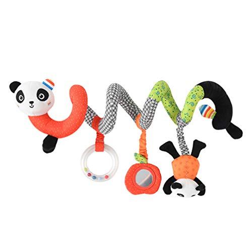 jojofuny Cuna de Bebé Cochecito Juguetes Colgantes Lindo Panda Cochecito de Animales Asiento de Coche Sonajeros Colgantes para Niños Recién Nacidos