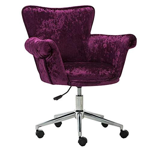 KST draaistoel, bureaustoel, verstelbaar, met armleuningen en wielen, computerwerkstoel, barstoel, receptie voor vrije tijd, kantoor thuis, velours, grijs