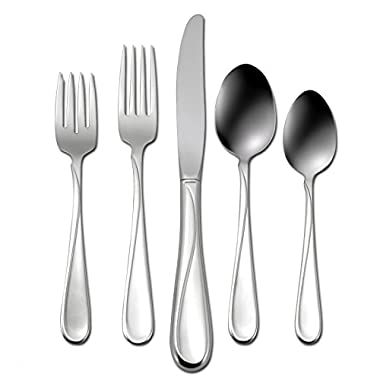 Oneida Flight 45-Piece Stainless-Steel Flatware Set, Service for 8 (2865045A)
