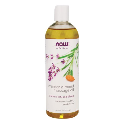 Fantastic Prices! Now Foods Lavender Almond Massage Oil - 16 fl. oz. 6 Pack