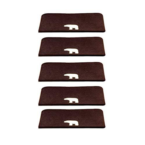 Heheja Treppen-Teppich Anti-Rutsch Stufenmatten Treppenstufen Matten Mit Klebeband Und Rubber Backing Dunkler Kaffee2