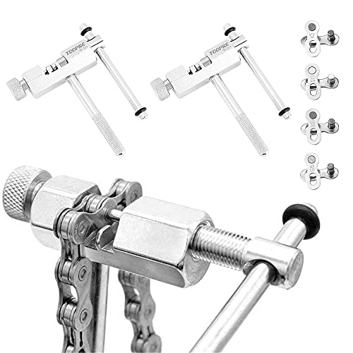 Swetup Fahrradketten Werkzeug, Fahrrad Reparatur Werkzeug Set mit 4 Paare Fahrradketten Kettengliede und Ketten Entferner, Bike Chain Tool mit Kettenhaken für 6 7 8 9 10 11-Fach Fahrradkette Splitter