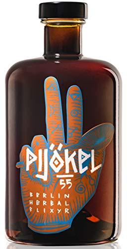 Pijökel 55, milder Kräuter-Schnaps in besonderer Flasche 500ml, delikater Kräuter-Likör mit komplexem Geschmack, handcrafted in Berlin