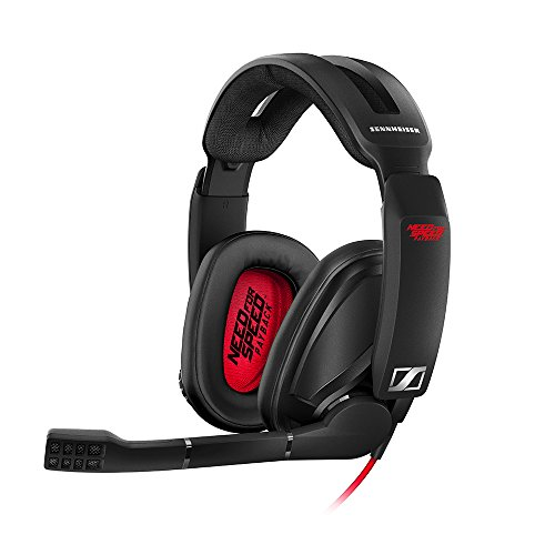 Sennheiser GSP 303 Gaming Headset with Noise-Cancelling Mic, Flip-to-Mute, Comfortable Memory Foam Ear Pads, Headphones for PC, Mac, Xbox One, PS4, Nintendo Switch - Need for Speed Payback Edition