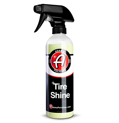 Adam's Tire Shine 16oz - Spray Tire Dressing W/ SiO2 for Non Greasy Car Detailing | Use W/Tire Applicator After Tire Cleaner & Wheel Cleaner | Gives A Ceramic Coating Car Wax Like Tire Protection