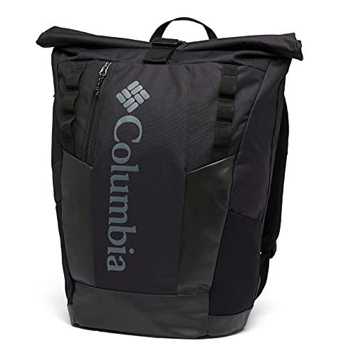 Columbia Convey 25L Rolltop Daypack Mochila, Unisex Adulto, Negro (Mountain Black Check Print), O/S