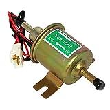 LXH-SH Bomba de Combustible eléctrica 12V Bolt de Baja presión de fijación Metal Gasolina Gasolina Diesel Bombas de Aceite para Motocicletas de automóviles (Color : Gold 12V)