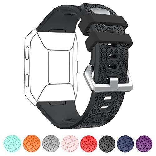 D&D DD Compatible avec Fitbit Ionic Bracelet, Ajustable Souple Silicone Bande de Sport Accessoire de Remplacement pour Fitbit Ionic Watch