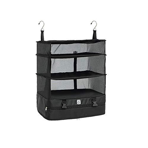 Bolsa de almacenamiento de viaje portátil gancho organizador colgante armario ropa almacenamiento rack titular viaje maleta estantes