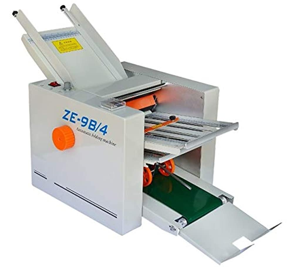 頑張る青写真荒れ地Hanchen ZE-8B/4 自動紙折り機 220V 紙サイズ:310*700mm オフィス機器 卓上紙折り 調節可能 業務用 事務用 変形しない カウント付き (220V, ZE-8B/4)