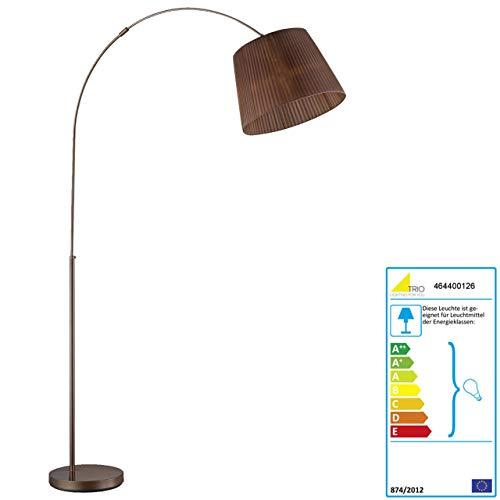 Trio LED Bogenlampe RL167, Stehleuchte Standleuchte Bogenleuchte, Organza braun 195cm EEK A+ 5W