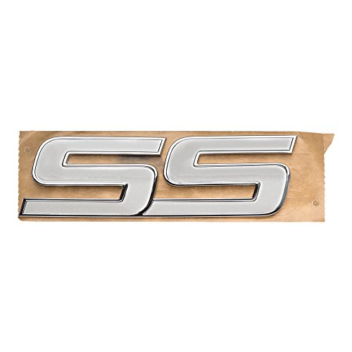 OEM NEW Front Door 'SS' Emblem Badge White & Chrome 06-09 Chevrolet 15211285
