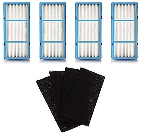 Nispira Replacement HEPA Filter For Holmes AER1 Series Total Air Filter, HAPF30AT For Purifier HAP242-NUC, 4 Filters
