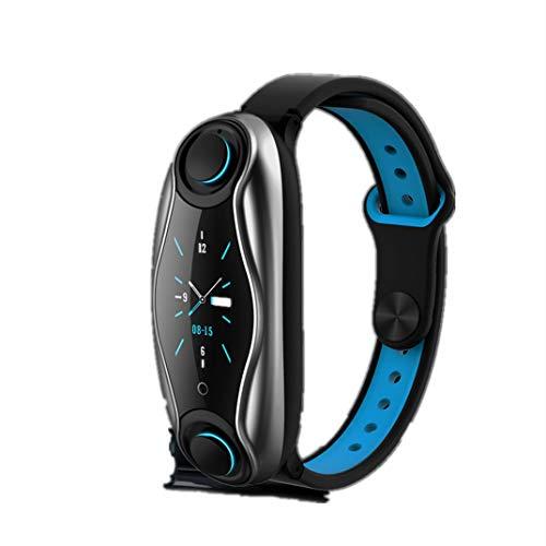 YANGPANGZI Moda Bluetooth Auriculares en la Oreja frecuencia cardíaca monitoreo de oxígeno en Sangre Ejercicio podómetro Pulsera Inteligente recordatorio de información de Llamadas