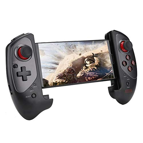 PG-9083S Gamepad Extensible telescópico Bluetooth para teléfono Inteligente/Tableta, Controlador de Juegos Joystick, Compatible con Sistema Android/iOS.Conectar Directamente, fácil de operar