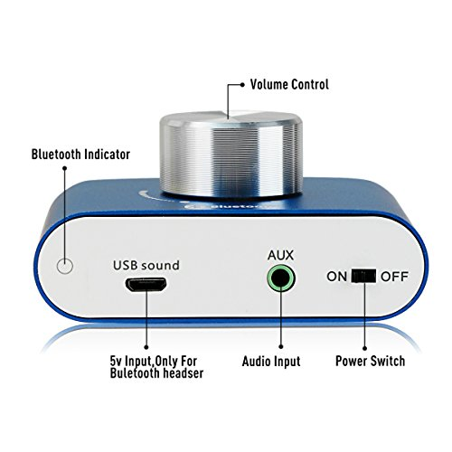 F900 Mini Bluetooth Power Amplifier Wireless Audio Receiver, Stereo Hi-Fi Digital Amp 2 Channel 50W 2 with AUX/USB/Bluetooth Input (No Power Supply)