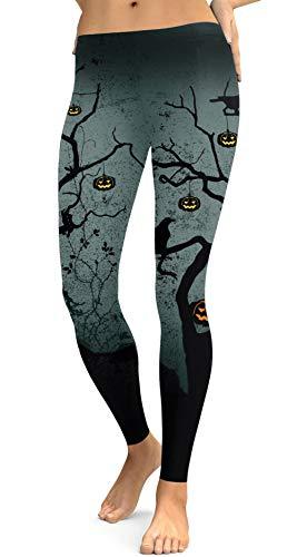 Legging elástica divertida para fantasia de Halloween For G and PL, Pumpkin Dark, Small